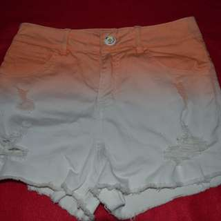 Ombre Ripped Shorts (high waist)