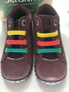 Ecco leather and suede toddler boots