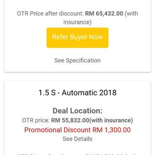 2018 ALZA 1.5S AUTOMATIC (PROMOTION DISCOUNT RM1.3K