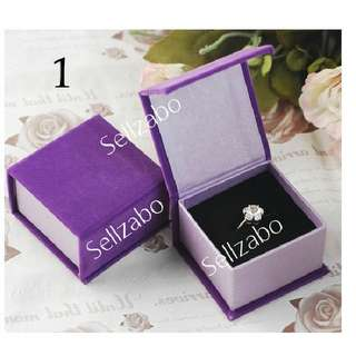 Ringbox Cardboard ~ Purple Square Colour Ringboxes Casings Holders Sellzabo Wedding Rom Propose Engage Aksesori Cincin Anting Kes Kotak Sarung Pemegang Cadangan Mencadangkan Kawin Kahwin Perkahwinan Perkawinan Hari Lahir Hadiah Pasangan Istimewa