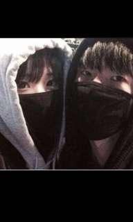 🚚 Korean black ulzzang mouth mask