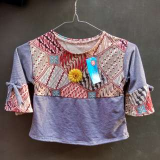 Top Strip Batik for girl