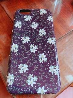 Iphone6紫色色碎花夜光case