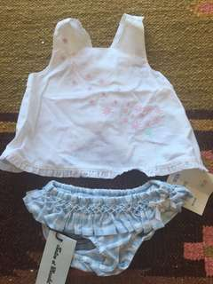 Baby girl French bloomers and top Bundle brand new with tags