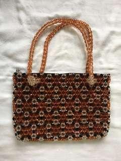 beaded brown/black bag