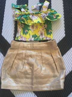 Country Road girls skirt and top