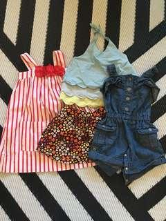 Girls toddler skirt and dress bundle