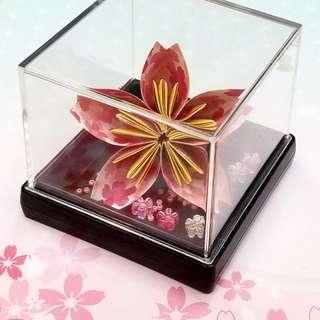 浪漫摺紙櫻花🌸連裝飾盒