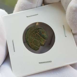 Very very old coin from Israel the holy land 2000 years old about