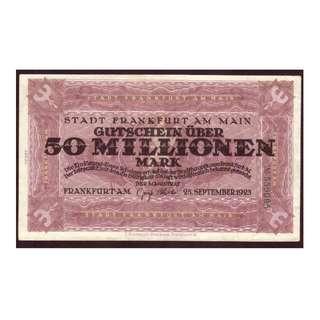 德國紙幣5千萬馬克
