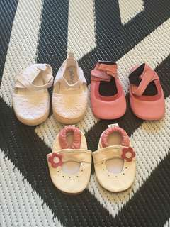 Soft sole leather baby shoes never worn