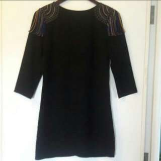 Moschino Silk Embellished Dress