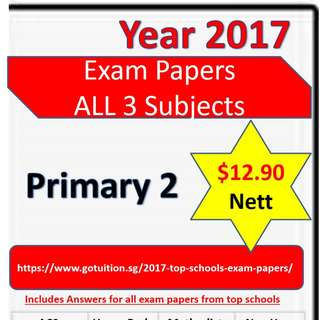 Primary 2 All Subjects - 2017 Top Primary Schools Exam Papers