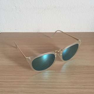 Sunglasses with blue tint
