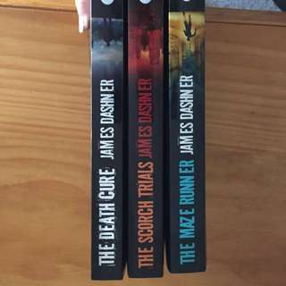 $5 each - The maze runner series