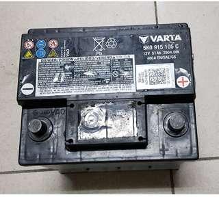 (二手中古電池) 華達 55109-免保養汽車電池 數值漂亮,品項優 同 54801 歐系車專用
