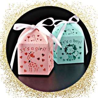 Baby Shower Gift box / one month old Gift Candy Box Souvenir