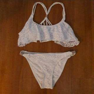 Ocean Club Crochet Flounce Bikini