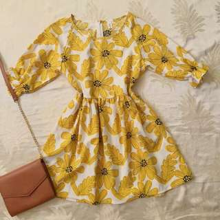 Daisy / Sunflower babydoll dress