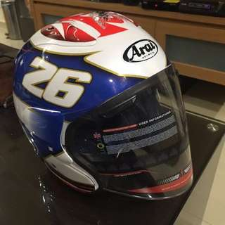 ARAI OPEN FACE HELMET WITH VISOR