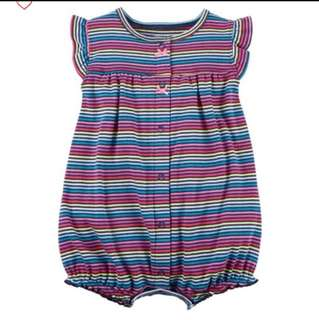 *9M* Brand New Carter's Snap Up Cotton Romper For Baby Girl
