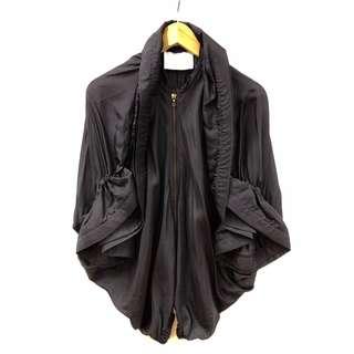 Lanvin navy silk top size 34