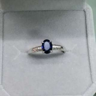 925銀鑲藍寶石戒指