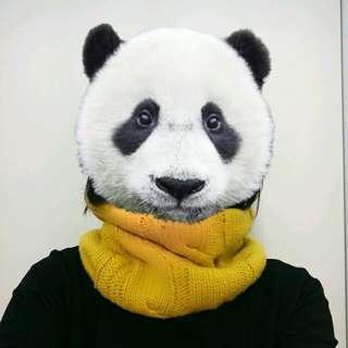 NET暖鵝黃色編織麻花圍脖