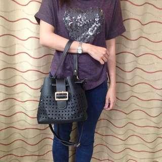 Black Bucket Bag from Sling MNL
