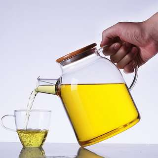 1600ML Glass Teapot High Borosilicate (Support Both Cold and Hot Water)