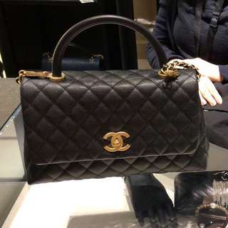 Chanel Coco Handle 29cm Medium size 黑色全牛皮