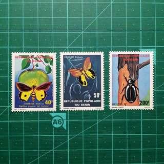 1980 貝寧共和國 昆蟲 新票一套
