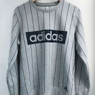 Adidas stripped sweatshirt