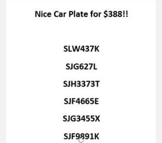 Attractive Car Number Plates