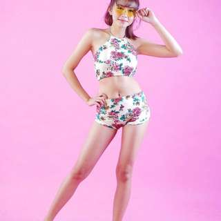 Scarlet Halter swimsuit
