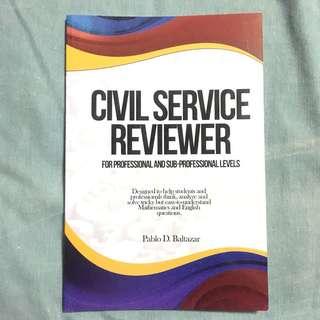 Civil Service Reviewer (Pro & Sub-pro) by Pablo D. Baltazar