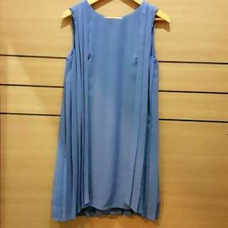 [SALE !! PL] Blue Pleated Dress
