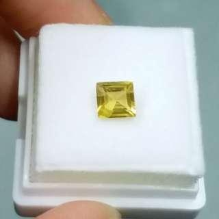 1卡黃色藍寶石裸石