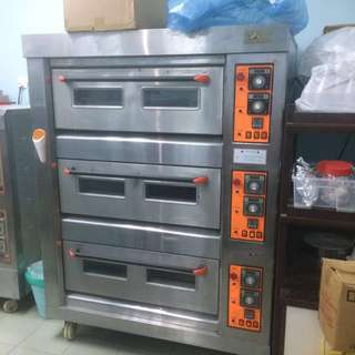 Gas Oven Golden Bull 3 Deck 6 Trays