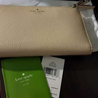 Auth.Kate Spade Malea Mulbery Double Zip Large wallet