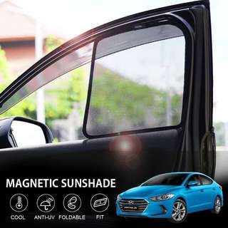 Hyundai Elantra magnetic sun shade