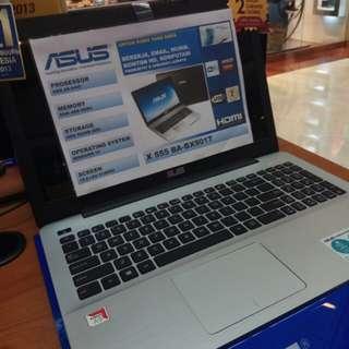 Laptop Asus X555BA Cicilan Tanpa Kartu Kredit Proses Cepat 3menit