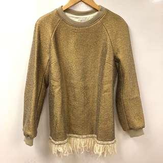 Dries Van Noten gold sweater size 38