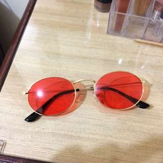Red Oval Glasses