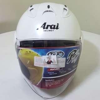 2703♡♡TSR RAM4 White  Helmet CONVERT TO ARAI 🦀 For SALE, Yamaha Jupiter, Spark, Sniper,, Honda, SUZUKI