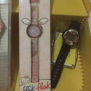flick flack hello kitty by swacth + baby g