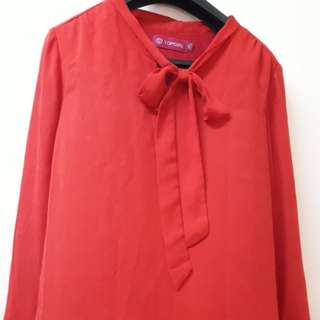 🍓Red Blouse brand Top Girl