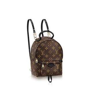 LV Louis Vuitton Palm Springs backpack mini