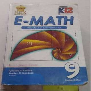 E-Math 9 grade 9 books