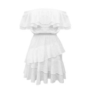 Rodeo Show white off shoulder mini dress